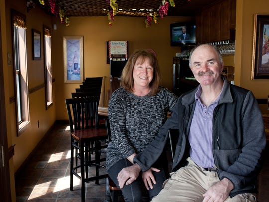 Owners Jeanne and Pat Healy pictured Wednesday, April 29, 2015 at Vinomondo Wine Bar and Brew Pub, 104 1st St. in Port Huron. Vinomondo will be hosting a home brew event Saturday at 11 a.m.