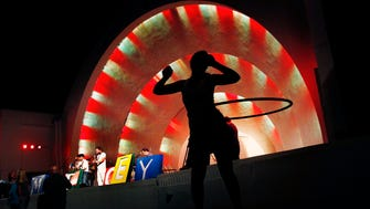 September 19, 2013 - Erika Hagwood (middle) hula-hoops during the Star & Micey performance at Levitt Shell's 2013 Free Music Concert Series Thursday evening. The concert series continues through the mid-Octobor and ends on with the 2013 Stars at the Shell performance. (Mark Weber/The Commercial Appeal)