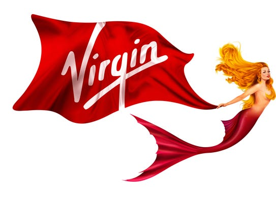 A mermaid image with the Virgin logo will adorn the