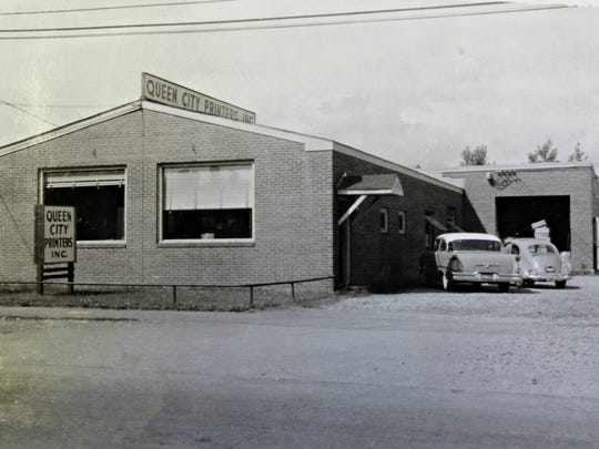 The Queen City Printers building on Pine Street in the South End of Burlington, pictured sometime in the 1960s.