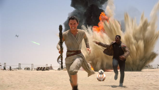 Still image from Star Wars: The Force Awakens. The release date is Dec.18, 2015.