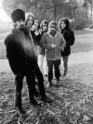 """Grateful Dead, 1967. From left: Mickey Hart, Phil Lesh, Bob Weir, Bill Kreutzmann, Ron """"Pigpen"""" McKernan, Jerry Garcia."""
