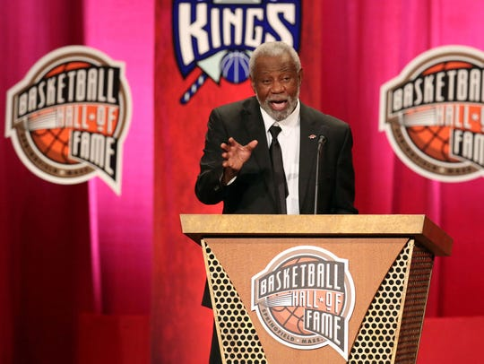 Nolan Richardson was inducted into the Naismith Memorial