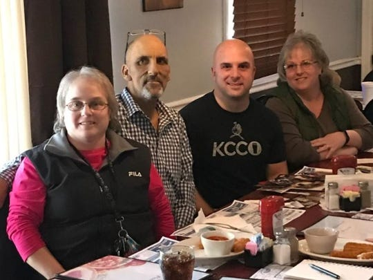 John Barton and his biological siblings. From left, Pam (Shaffer) Cool, Clinton Shaffer Jr., Barton, and Tammy (Shaffer) Smith.