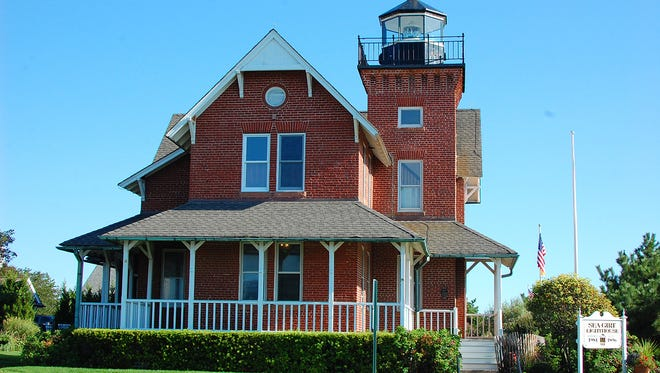 The Sea Girt Lighthouse as it looks out to the sea.
