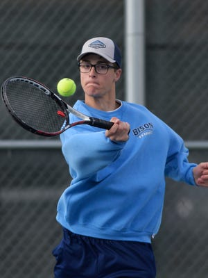 Great Falls High senior Luke Wyman is a talented tennis player and valued reserve on the Bison basketball team that this weekend will look to win the state championship.