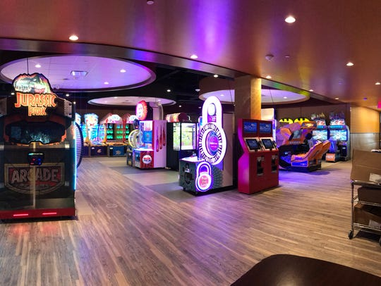 The game room is seen after renovations at Acadiana