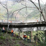 Down bridge splits Big Sur; part of Hwy 101 closed for a year
