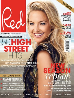 """Kate Hudson on the cover of """"Red"""" magazine."""
