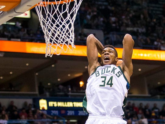 Giannis Antetokounmpo represented the Bucks as a starter