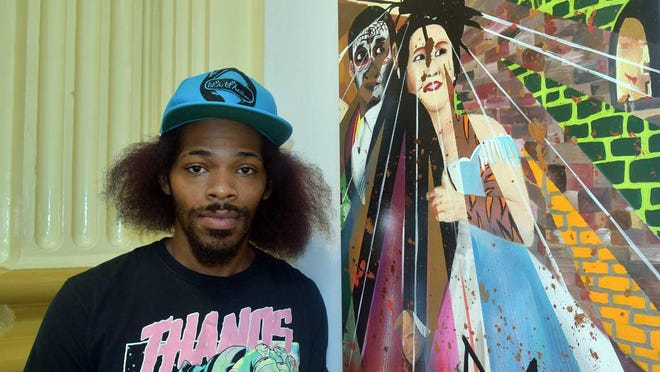 New Bern artist Jarmon Fonville is among four featured artists at the Bank of the Arts annual Juneteenth exhibit.