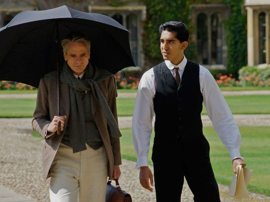 "In ""The Man Who Knew Infinity,"" Dev Patel plays mathematician Srinivasa Ramanujan, who grew up poor in India but studied at Cambridge under G.H. Hardy (Jeremy Irons)"