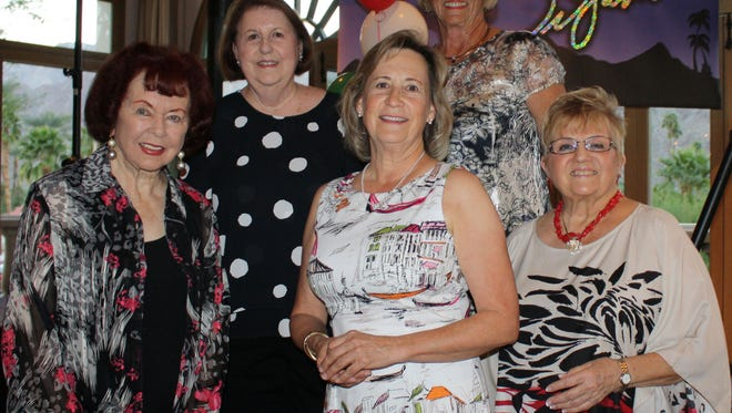 R to L – back row, decorations chair Linda Pelegrino, and President Sandy Dyer,' front row, benefit treasurer Ann Dierks, communications Allyson, event chair Linda Curea.