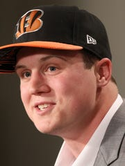 The Bengals introduced tight end Tyler Kroft on May 2 at Paul Brown Stadium.