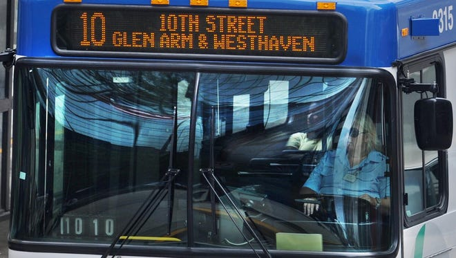 Ridership on high frequency IndyGo routes, like the No. 10 on 10th Street, increased in 2013, after the Indianapolis agency decreased wait times with more frequent buses running every 15 to 20 minutes on those routes.