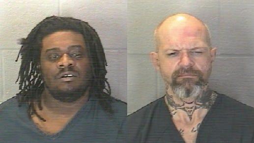 Aarron Christopher Vance (left) and Wesley Andrew Hampton.