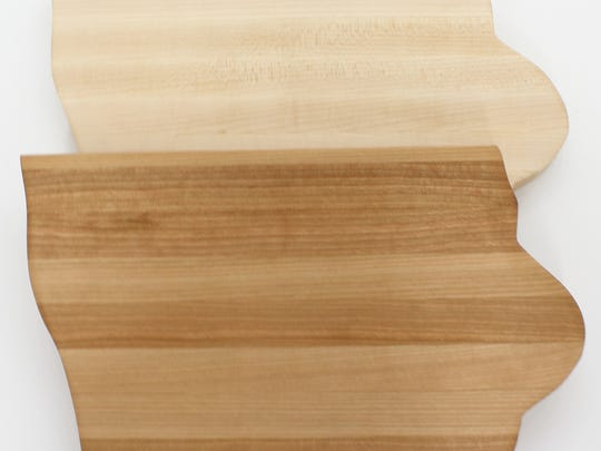 Featured holiday gift: Iowa-shaped cutting board