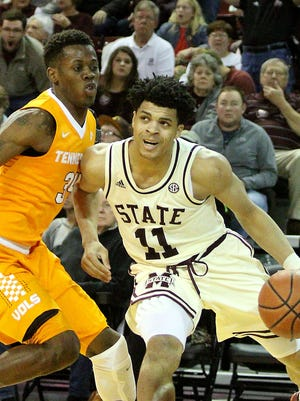 Mississippi State freshman Quinndary Weatherspoon scored a career-high 23 points against Tennessee while playing power forward.