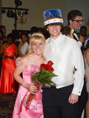 Audra Chalmers and Warmbier were crowned prom king