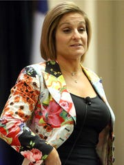 Olympic gold medalist Mary Lou Retton talks about her road to the Olympics during The Coastal Bend Women Lawyers Association luncheon on Thursday, March 23, 2017, at the Omni Corpus Christi Hotel in Corpus Christi.