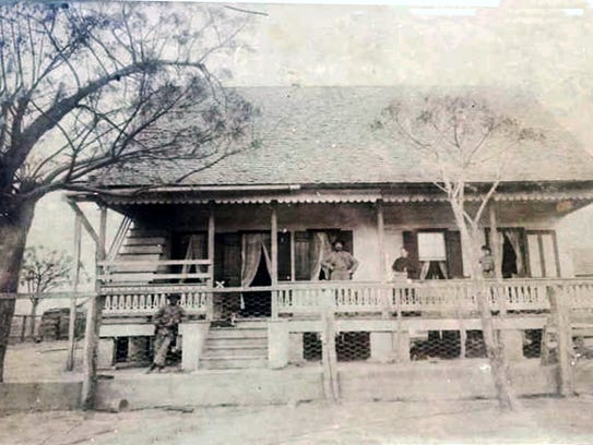 Home of Theogene Bertrand at the turn of the 20th century.