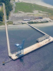 The pier at Naval Magazine Indian Island.
