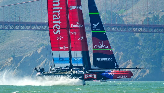 Following seven consecutive wins, Oracle Team USA is now tied with New Zealand heading into Wednesday's final race.