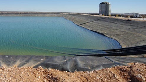 Some of the produce water is treated and used for hydraulic fracking. Produce water is extracted along with oil and gas drilling and has the potential of being used for other purposes.