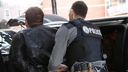 U.S. Immigration and Customs Enforcement said on April 17 it had recently arrested 225 people in New York.