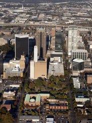 Downtown Birmingham, A;la., in 2009. The Civil Rights
