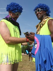 Rich Kelley and Charles Kelley get ready for the Roo Run at the Bonnaroo Music and Arts Festival 2018 on early Saturday morning, June 9, 2018