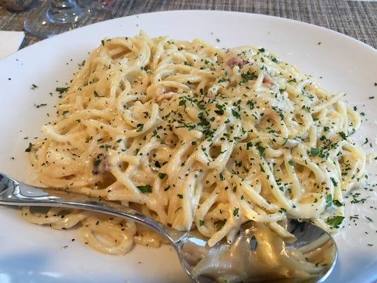 Spaghetti alla carbonara from Colleoni's in south Fort