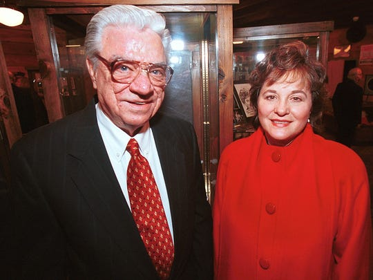 Former state Rep. Jimmy Long is shown with Supreme Court Justice Jeanette Knoll in 2000 when they were inducted into the Louisiana Political Hall of Fame.