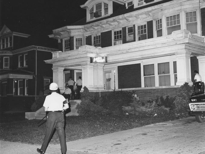 Police are seen during the night of July 25-26, 1967,
