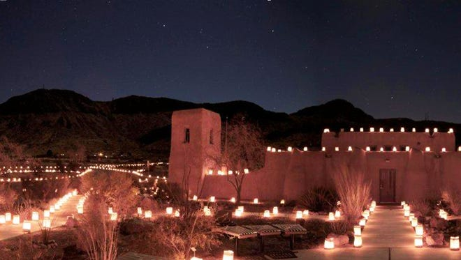 Rockhound State Park hosts its annual holiday event, complete with Santa, music, refreshments and more than 1,000 luminarias.