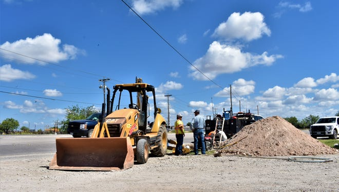 Construction beginning near the intersection of Bell Street and Old Ballinger Highway on Monday, June 18, 2018.