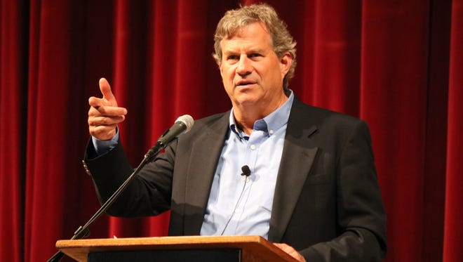 Sam Quinones, author of the award-winning book Dreamland: The True Tale of America's Opiate Epidemic, spoke at Lakeside Chautauqua's Hoover Auditorium on Monday.