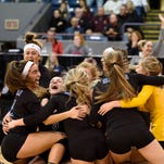 Marian takes down Mercy in Class A girls volleyball semifinal