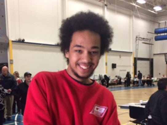 Quentin Haima, 18, of Wausau, voted at Wausau West