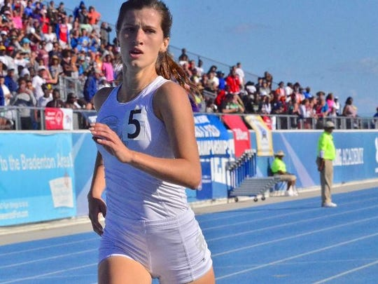 Fort Myers High School's Krissy Gear captured the girls 3A 1,600-meter run Saturday at the state track meet in Bradenton, completing the first sweep of distance races since 2012 and only the second since 1982.