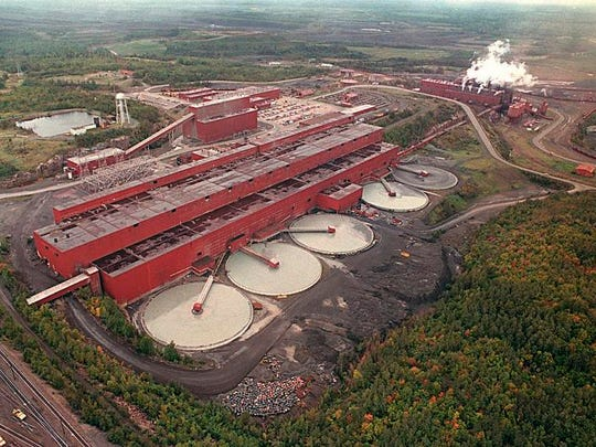 The LTV Steel processing plant near Hoyt Lakes, which was taken over by Polymet Mining Corp. to use as a copper-nickel processing plant.