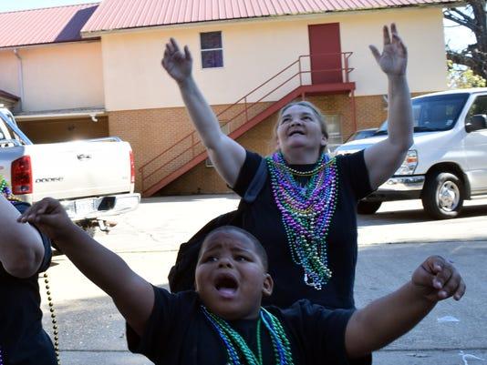 ANI Mardi Gras parade Daylan Tribble
