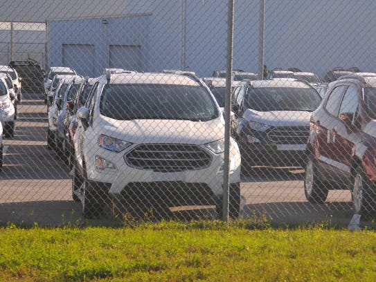 These are among the more than 800 vehicles that arrived