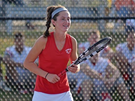 Vineland Tess Fisher wins C.A.L Tennis Singles Tournament