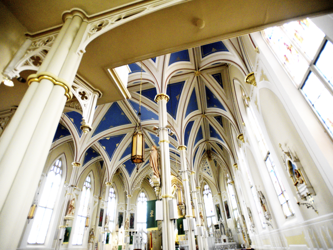St. Mary Basilica in Natchez Mississippi has a Gothic