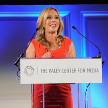 ESPN anchor Linda Cohn speaks on stage at the Paley Prize Gala honoring ESPN's 35th anniversary presented by Roc Nation Sports on May 28 in New York City.