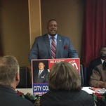 City council member Kenny Wilson, District 4, announced his candidacy for re-election Monday in Monroe.