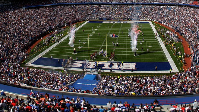 The Bills stadium committee will meet Tuesday. The potential for a new stadium either in Orchard Park or at another location is being explored.  David Duprey AP The Buffalo Bills are introduced to play the New England Patriots at Ralph Wilson Stadium during the first quarter of an NFL football game in Orchard Park, N.Y., Sunday, Sept. 25, 2011. (AP Photo/David Duprey)