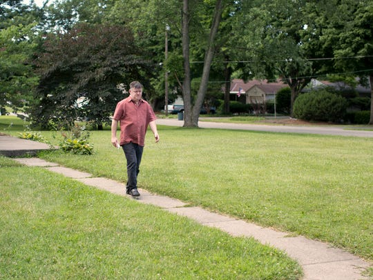 Ron Ward at his home in Middletown, days before he left for in-patient treatment. He relapsed June 24. His new sobriety dates is June 25, 2018.