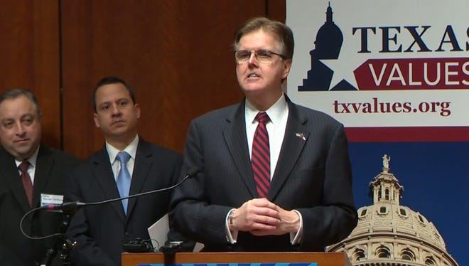 Lt. Gov. Dan Patrick spoke at the Texas Faith and Family Day event on Tuesday at the Texas Capitol, telling the crowd liberty comes from God as the issue of marriage took center stage.